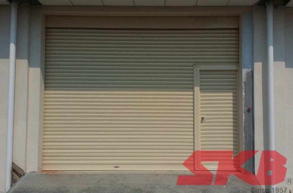 roller shutter swing door
